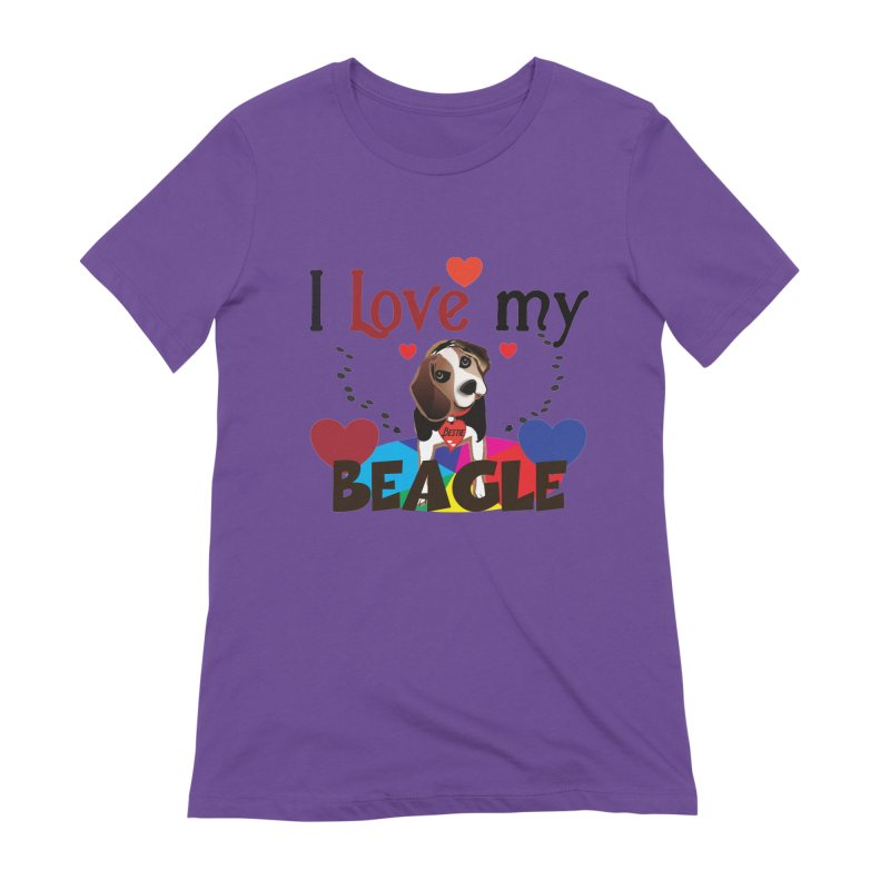 Beagle love Women's Extra Soft T-Shirt by MyInspirationalGifts Artist Shop
