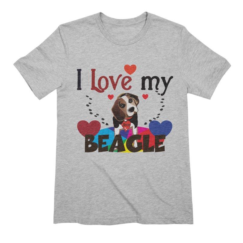 Beagle love Men's Extra Soft T-Shirt by MyInspirationalGifts Artist Shop