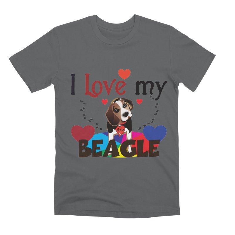 Beagle love Men's Premium T-Shirt by MyInspirationalGifts Artist Shop