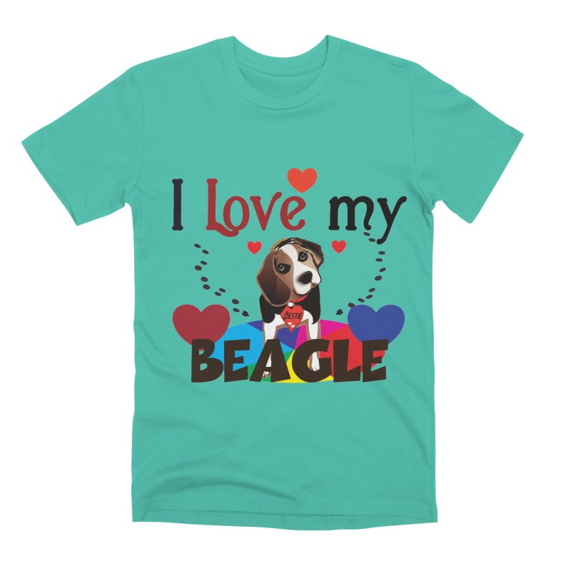 Beagle love Men's Premium T-Shirt by MyInspirationalGifts Artist Shop