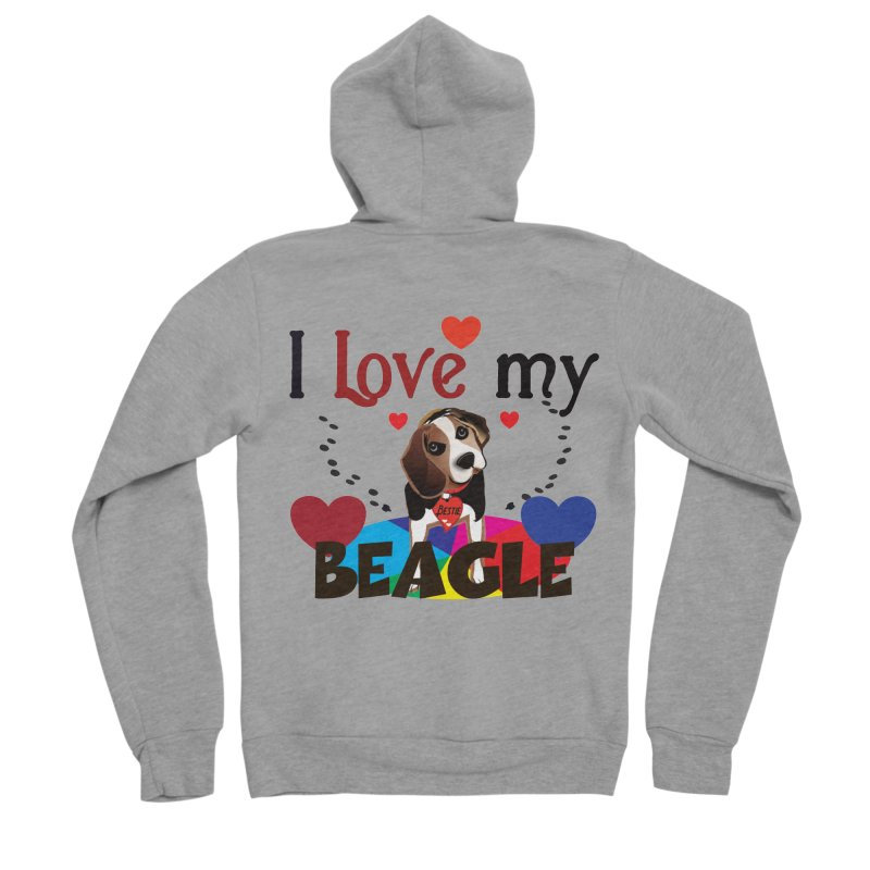 Beagle love Women's Sponge Fleece Zip-Up Hoody by MyInspirationalGifts Artist Shop