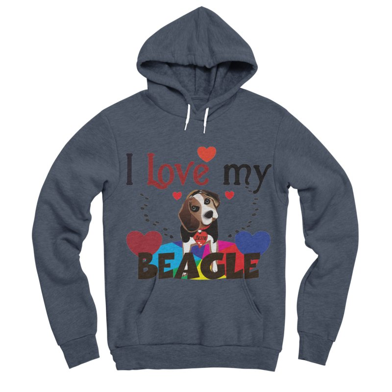 Beagle love Women's Sponge Fleece Pullover Hoody by MyInspirationalGifts Artist Shop