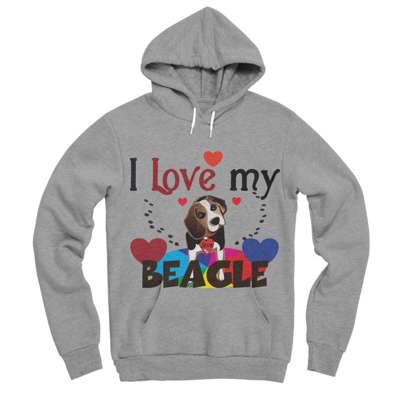 Beagle love Men's Sponge Fleece Pullover Hoody by MyInspirationalGifts Artist Shop