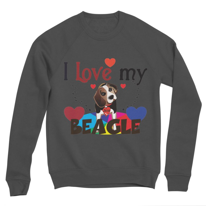 Beagle love Men's Sponge Fleece Sweatshirt by MyInspirationalGifts Artist Shop