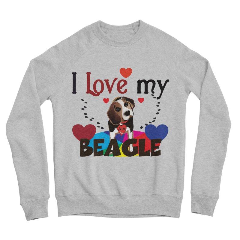 Beagle love Men's Sponge Fleece Sweatshirt by MyInspirationalGifts Artist Shop