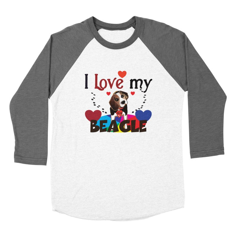 Beagle love Women's Baseball Triblend Longsleeve T-Shirt by MyInspirationalGifts Artist Shop