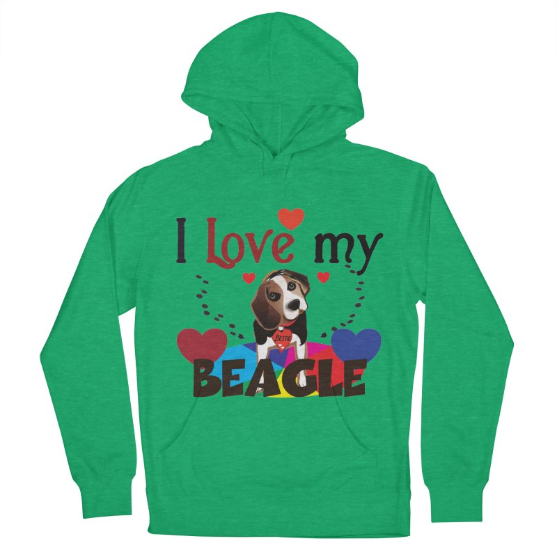 Beagle love Women's French Terry Pullover Hoody by MyInspirationalGifts Artist Shop