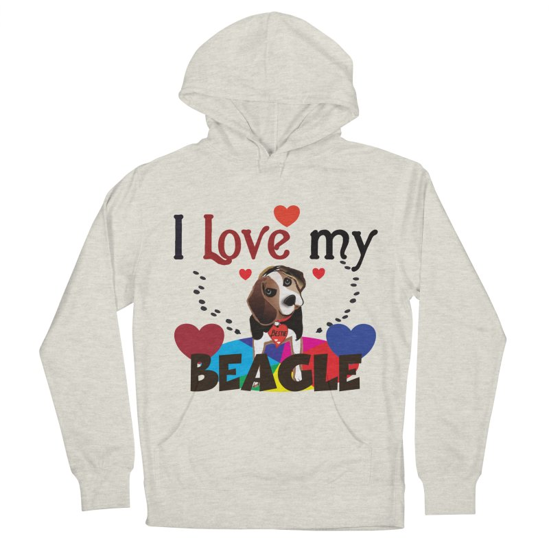 Beagle love Men's French Terry Pullover Hoody by MyInspirationalGifts Artist Shop