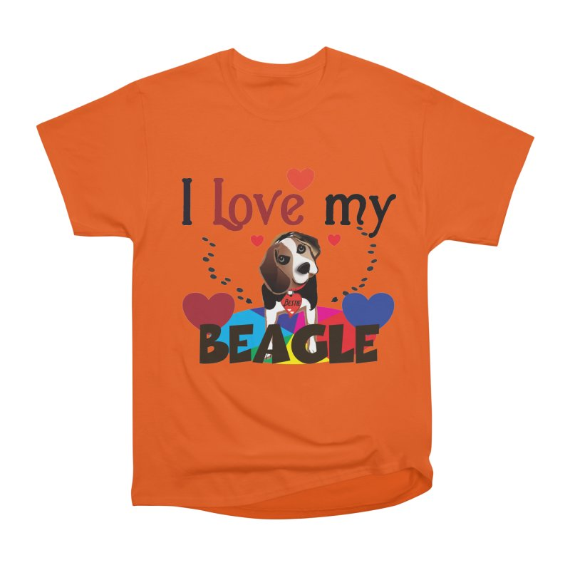 Beagle love Women's Heavyweight Unisex T-Shirt by MyInspirationalGifts Artist Shop