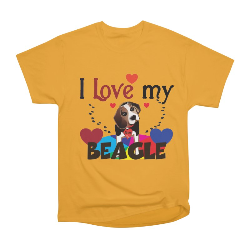 Beagle love Men's Heavyweight T-Shirt by MyInspirationalGifts Artist Shop
