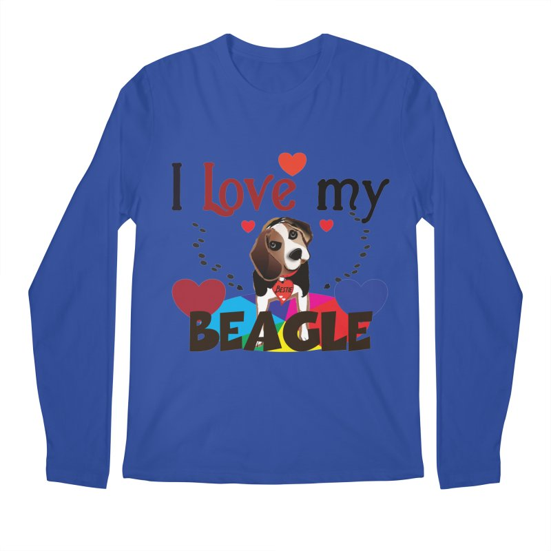 Beagle love Men's Regular Longsleeve T-Shirt by MyInspirationalGifts Artist Shop