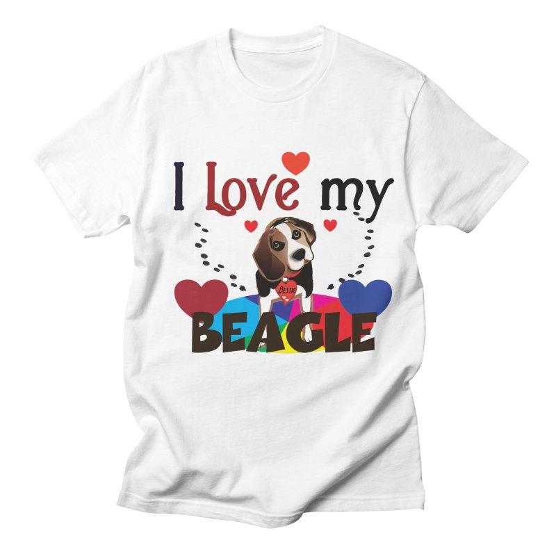 Beagle love Men's Regular T-Shirt by MyInspirationalGifts Artist Shop