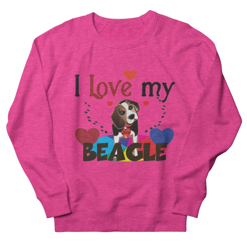 Beagle love Women's French Terry Sweatshirt by MyInspirationalGifts Artist Shop