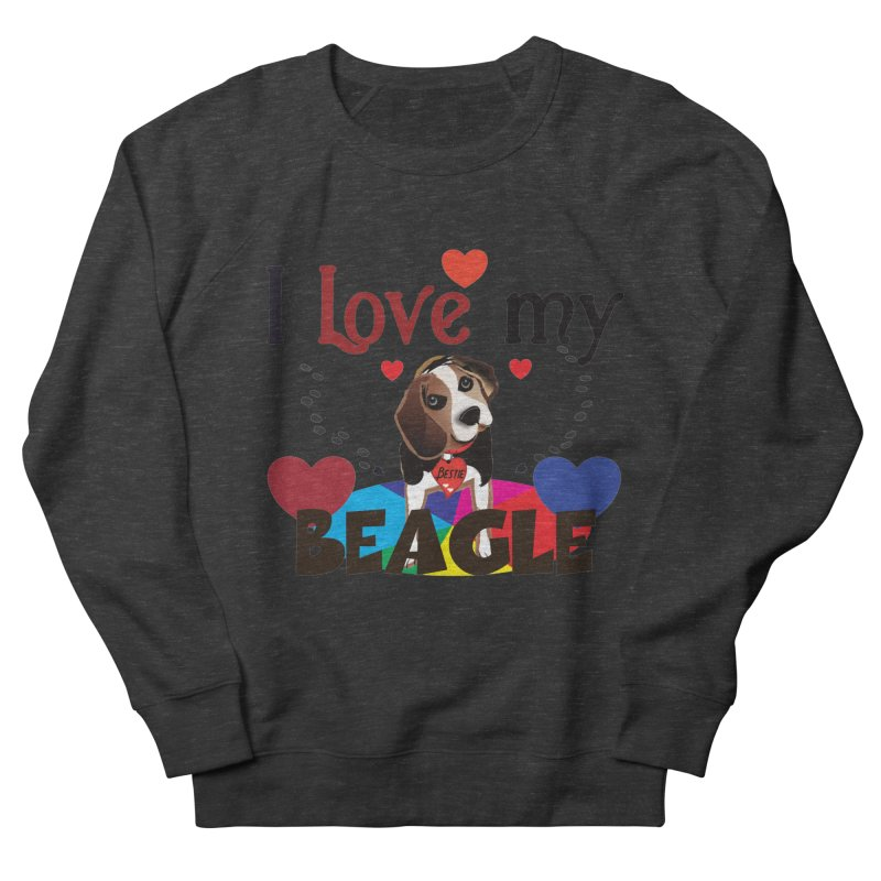 Beagle love Men's French Terry Sweatshirt by MyInspirationalGifts Artist Shop