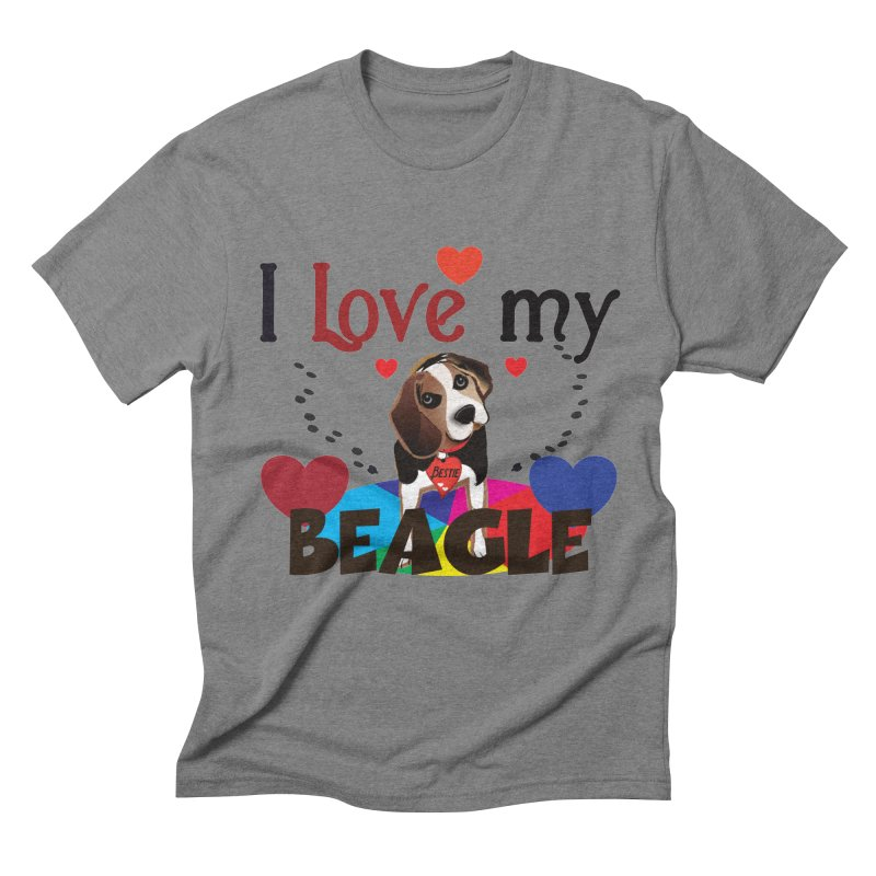 Beagle love Men's Triblend T-Shirt by MyInspirationalGifts Artist Shop