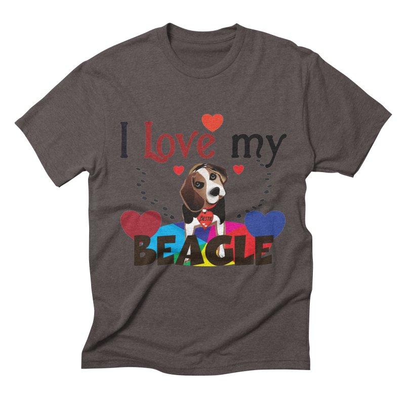 Beagle love Men's Triblend T-Shirt by MyInspirationalGifts Artist Shop