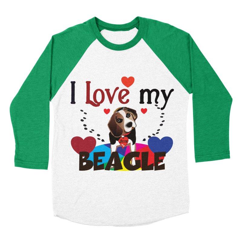 Beagle love Women's Baseball Triblend Longsleeve T-Shirt by MyInspirationalGifts Artist Shop