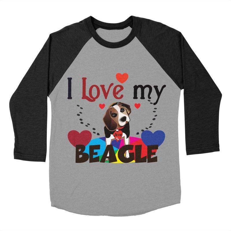 Beagle love Men's Baseball Triblend Longsleeve T-Shirt by MyInspirationalGifts Artist Shop