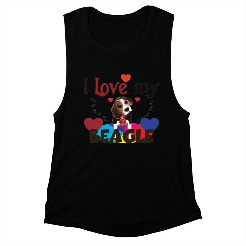 Beagle love Women's Muscle Tank by MyInspirationalGifts Artist Shop