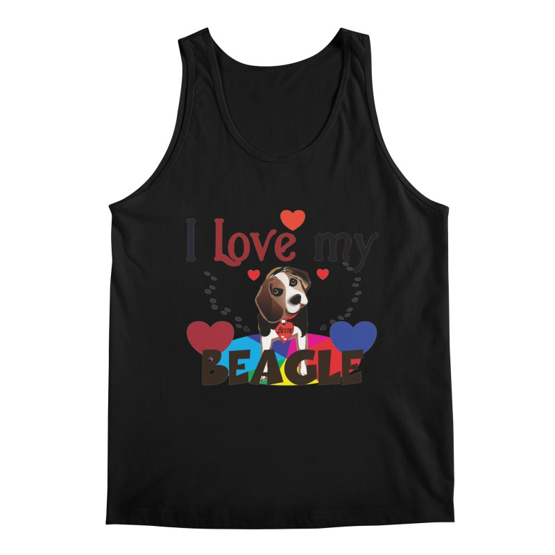 Beagle love Men's Regular Tank by MyInspirationalGifts Artist Shop