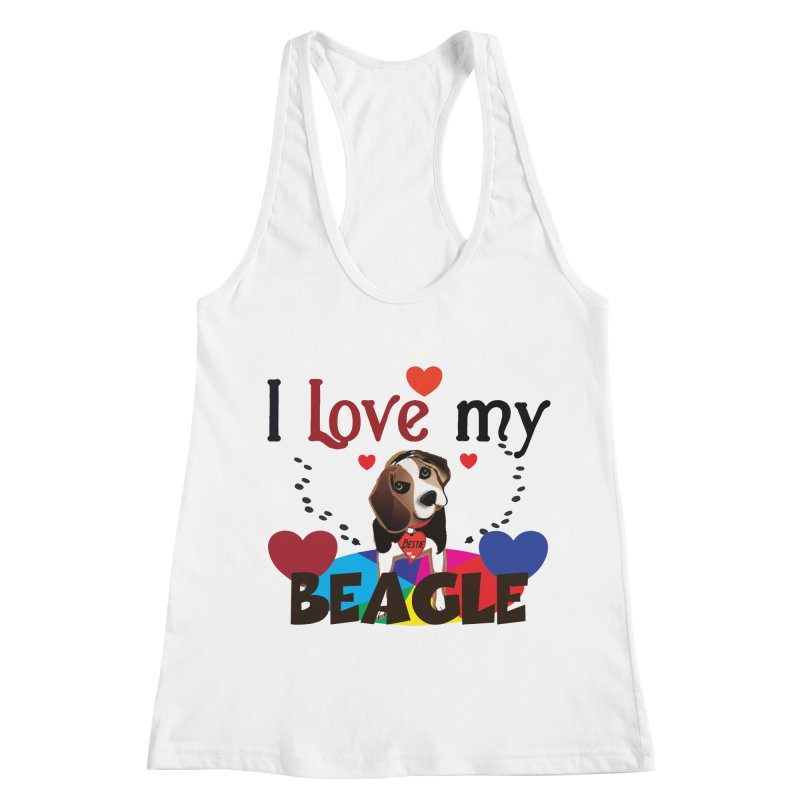 Beagle love Women's Racerback Tank by MyInspirationalGifts Artist Shop