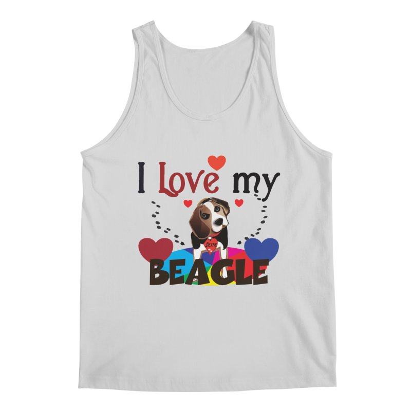 Beagle love Men's Regular Tank by MyInspirationalGifts Artist Shop