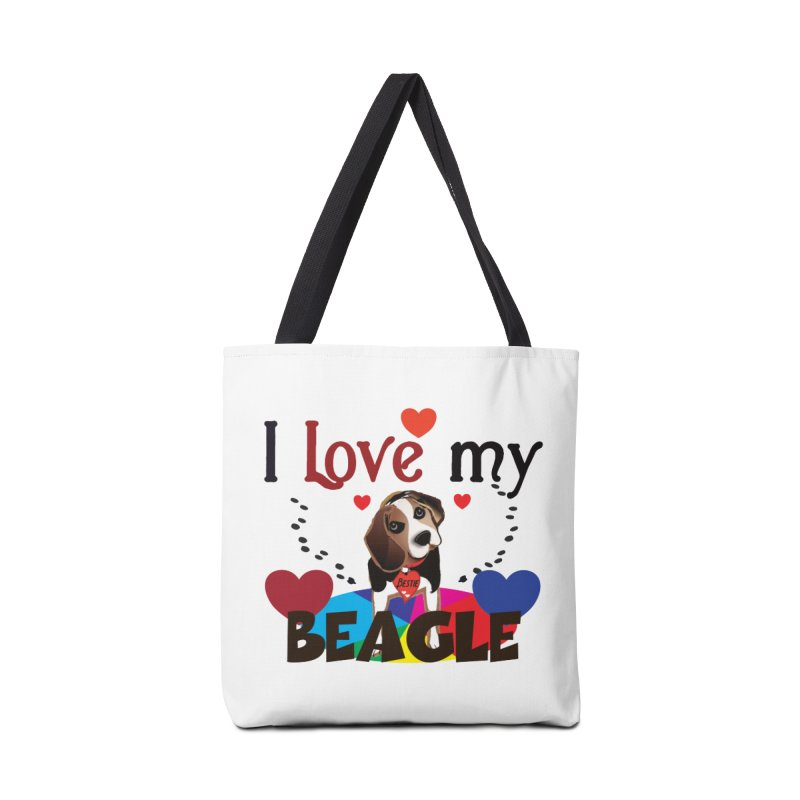 Beagle love Accessories Tote Bag Bag by MyInspirationalGifts Artist Shop