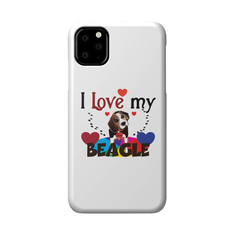 Beagle love Accessories Phone Case by MyInspirationalGifts Artist Shop