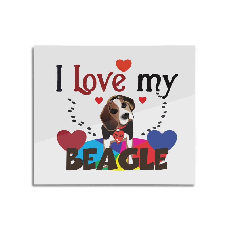 Beagle love Home Mounted Aluminum Print by MyInspirationalGifts Artist Shop