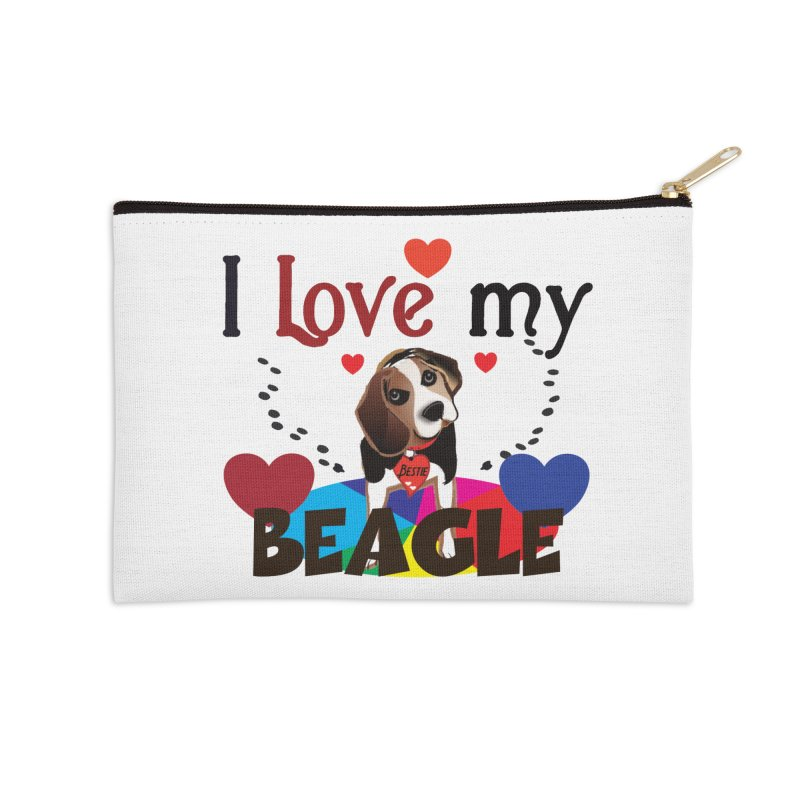 Beagle love Accessories Zip Pouch by MyInspirationalGifts Artist Shop