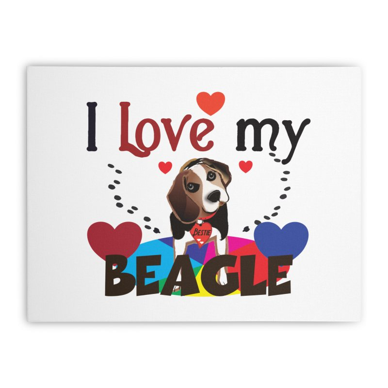 Beagle love Home Stretched Canvas by MyInspirationalGifts Artist Shop