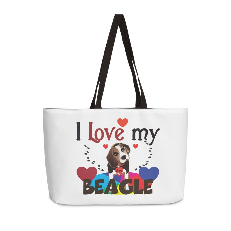 Beagle love Accessories Weekender Bag Bag by MyInspirationalGifts Artist Shop