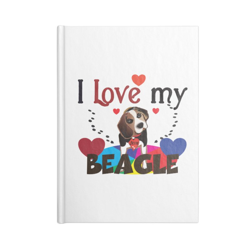 Beagle love Accessories Lined Journal Notebook by MyInspirationalGifts Artist Shop