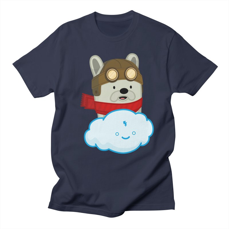 The Flying French Bulldog Men's T-shirt by MykoWu's Artist Shop