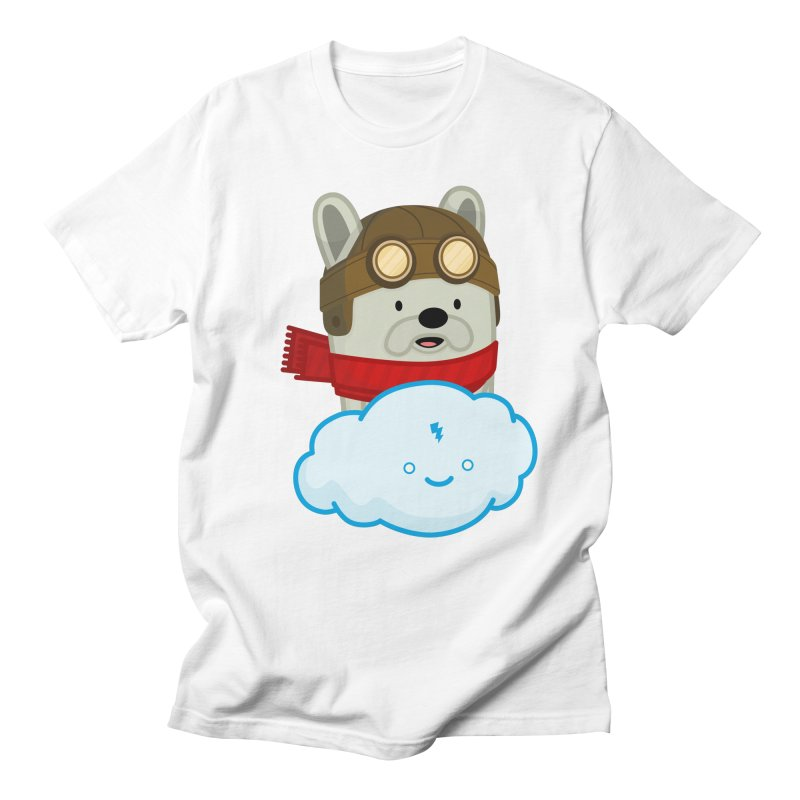 The Flying French Bulldog Men's Regular T-Shirt by MykoWu's Artist Shop