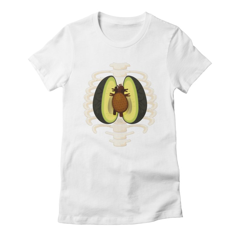 Avocado Anatomy Women's Fitted T-Shirt by MykoWu's Artist Shop