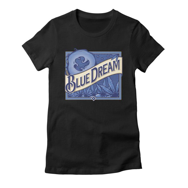 Blue Dream Women's Fitted T-Shirt by MykoWu's Artist Shop