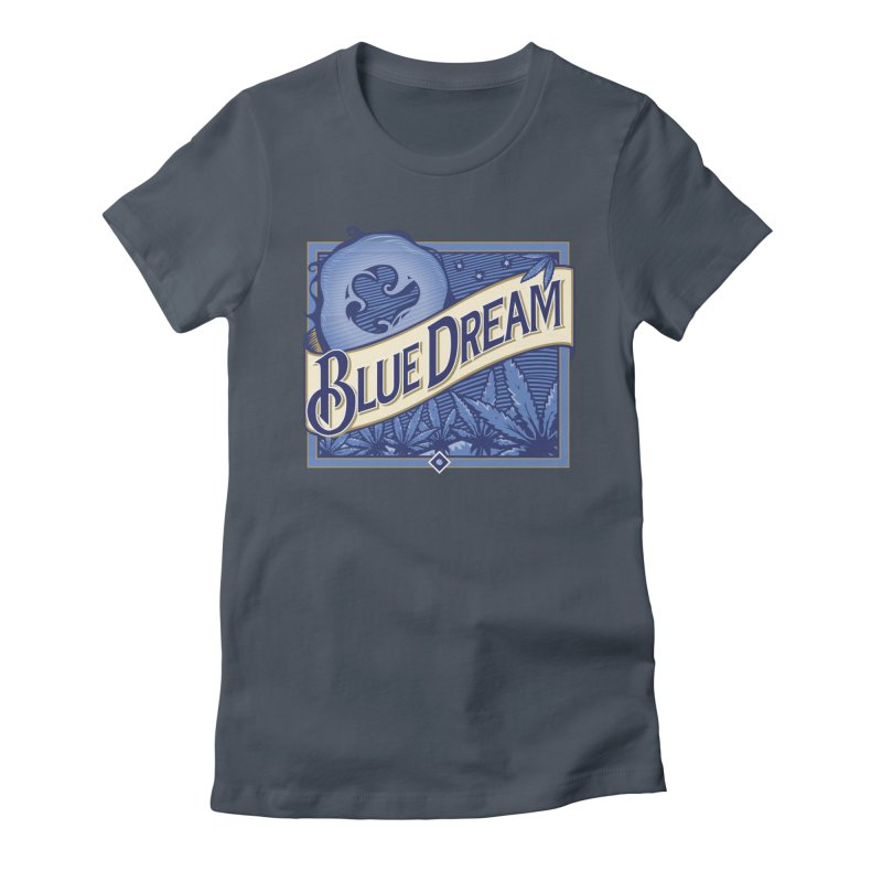 Blue Dream Women's Fitted T-Shirt by MykoWu's Artist Shop