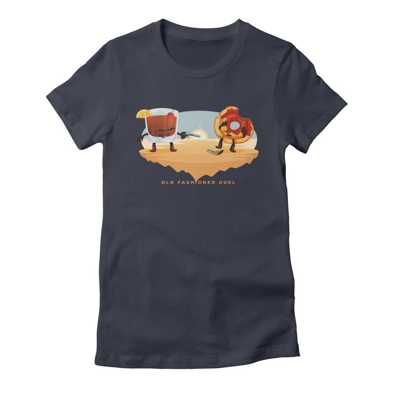 Old Fashioned Duel Women's Fitted T-Shirt by MykoWu's Artist Shop