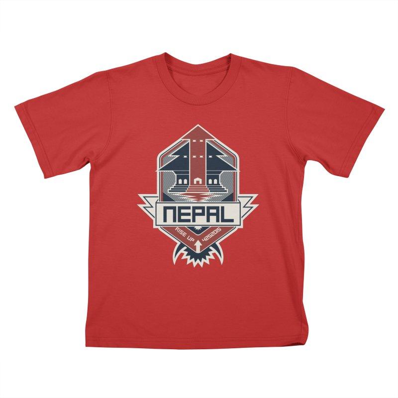 Rise Up Nepal Kids T-Shirt by MykoWu's Artist Shop