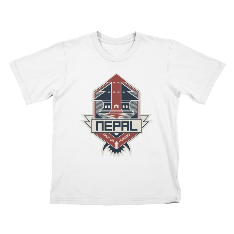 Rise Up Nepal Kids T-Shirt by MykoWu's Artist Shop