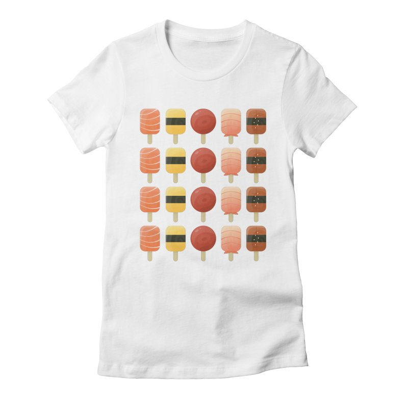 Creamsicles of Nigiri Women's Fitted T-Shirt by MykoWu's Artist Shop