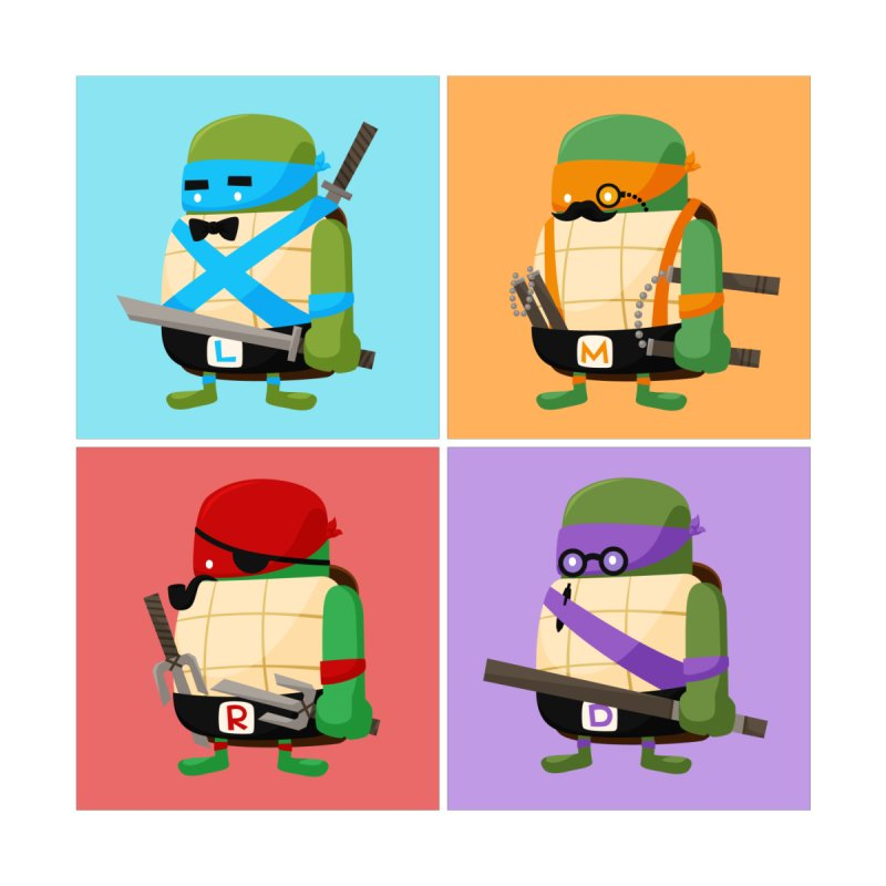 Teenage Mutant Ninja Turtles Pop Art None  by MykoWu's Artist Shop