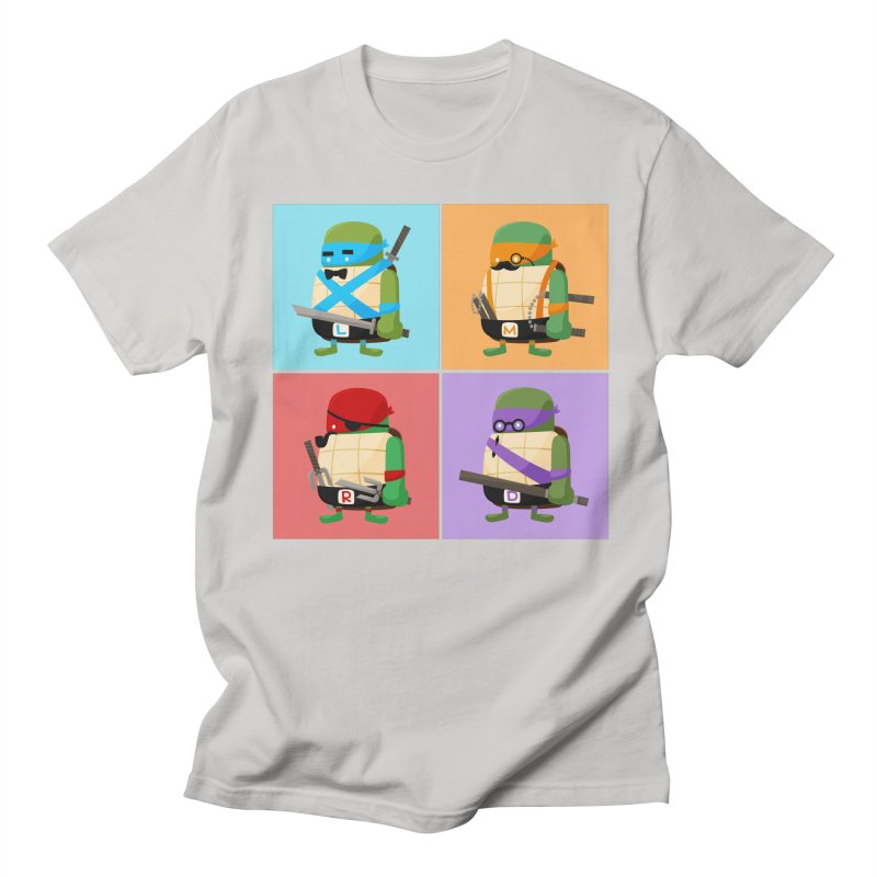 Teenage Mutant Ninja Turtles Pop Art Men's Regular T-Shirt by MykoWu's Artist Shop