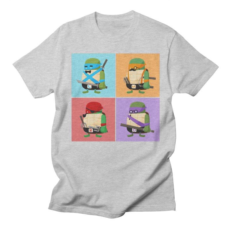 Teenage Mutant Ninja Turtles Pop Art Men's T-shirt by MykoWu's Artist Shop