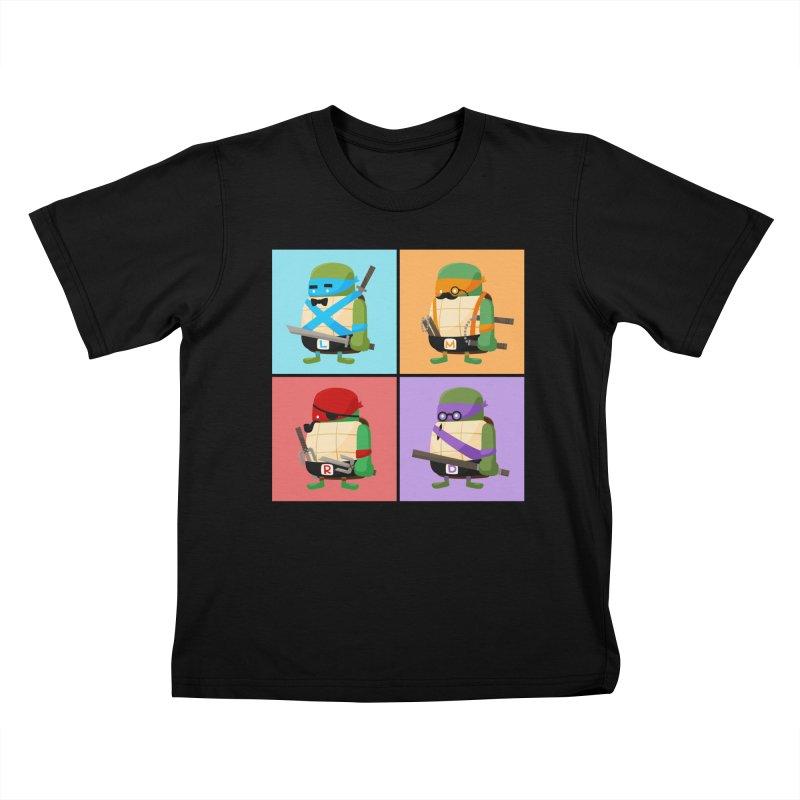 Teenage Mutant Ninja Turtles Pop Art Kids T-Shirt by MykoWu's Artist Shop