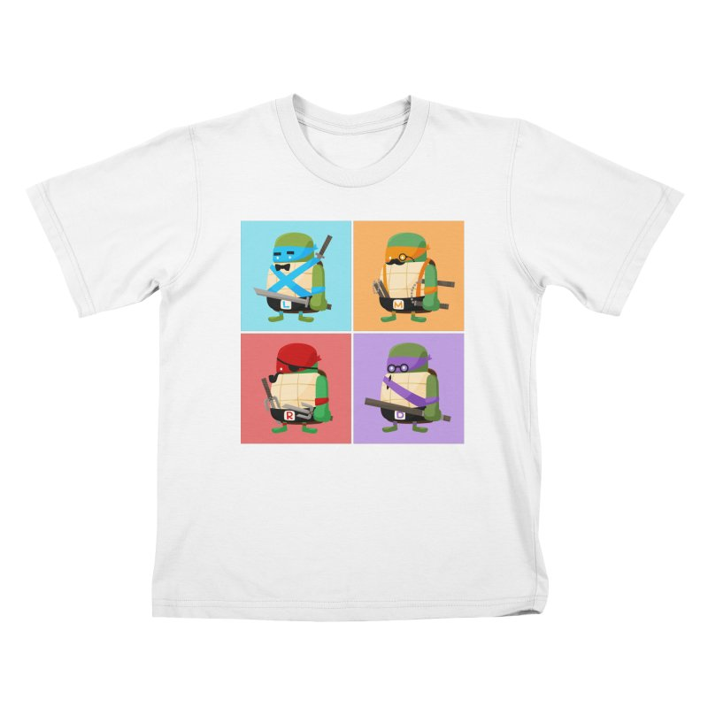 Teenage Mutant Ninja Turtles Pop Art Kids T-Shirt by MykoWu's Artist Shop