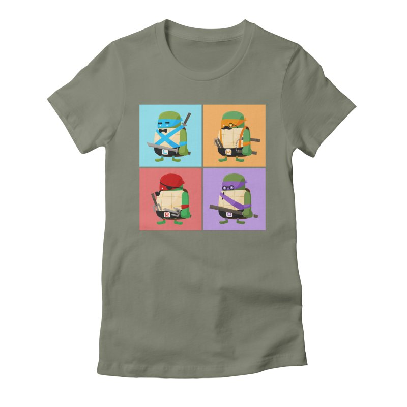 Teenage Mutant Ninja Turtles Pop Art Women's Fitted T-Shirt by MykoWu's Artist Shop