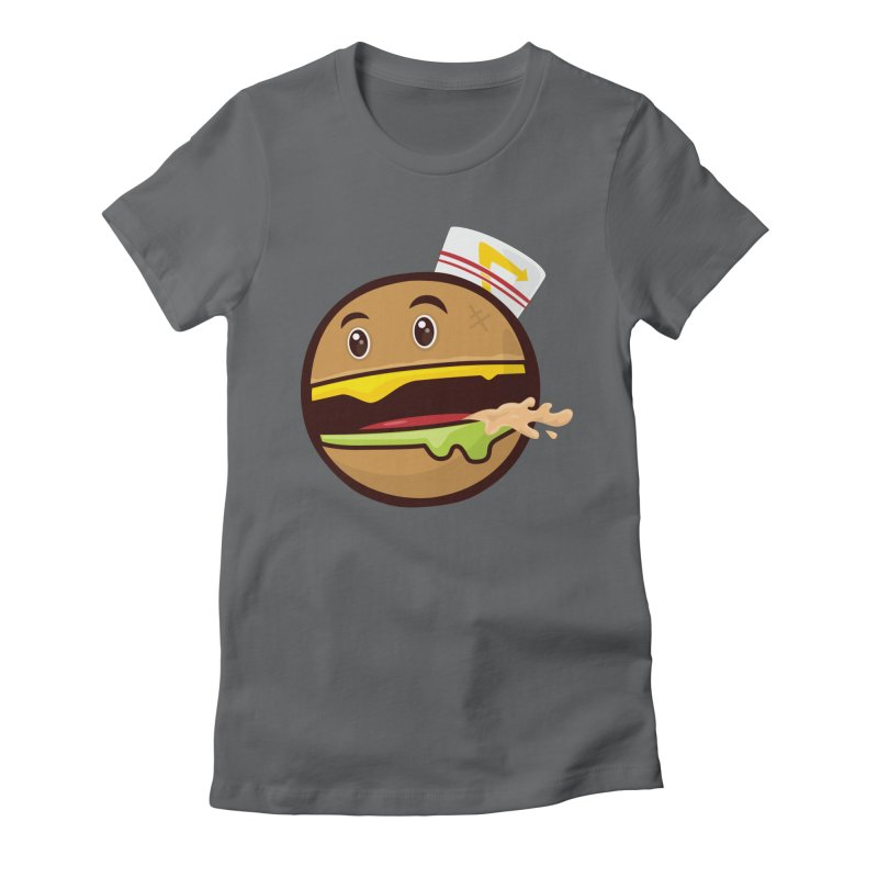 Burger Animal Women's Fitted T-Shirt by MykoWu's Artist Shop
