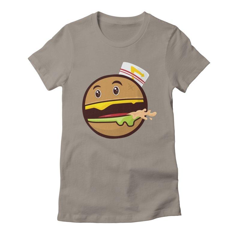Burger Animal Women's T-Shirt by MykoWu's Artist Shop